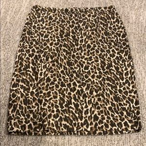 Dresses & Skirts - J. Crew cheetah print pencil skirt